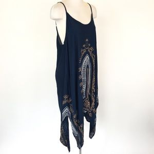 Earthbound size XXL navy strappy boho dress